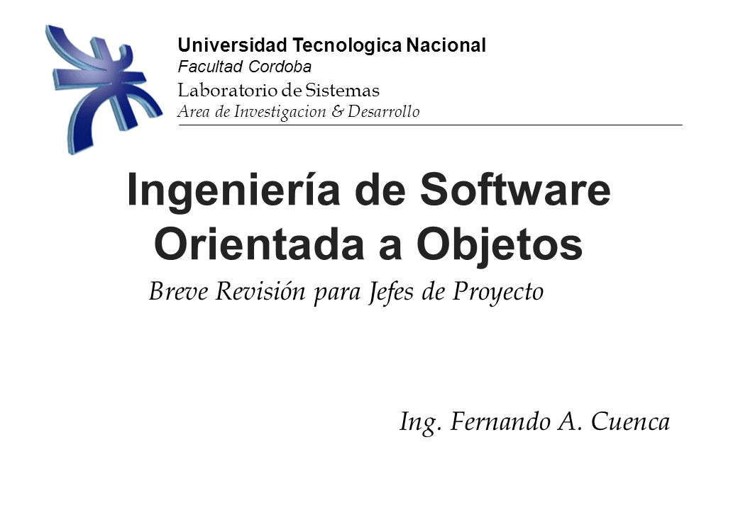 Ingeniería de Software Orientada a Objetos