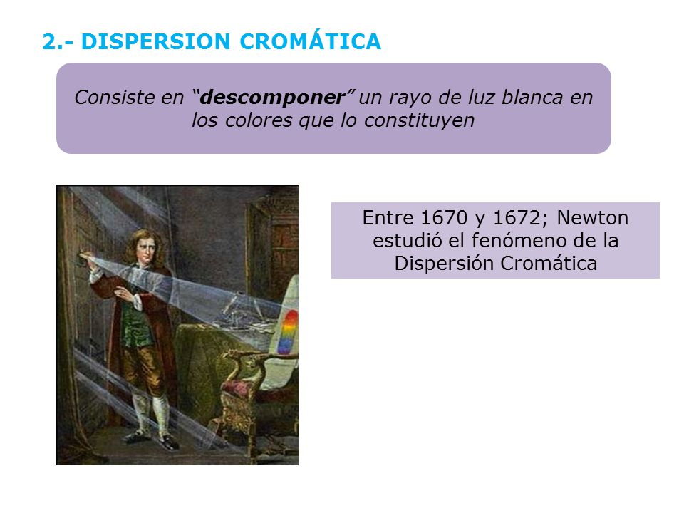 2.- DISPERSION CROMÁTICA