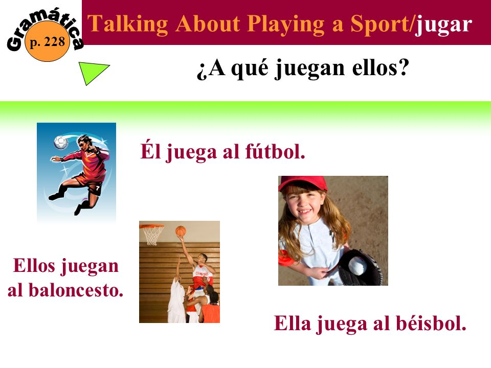 Talking About Playing a Sport/jugar