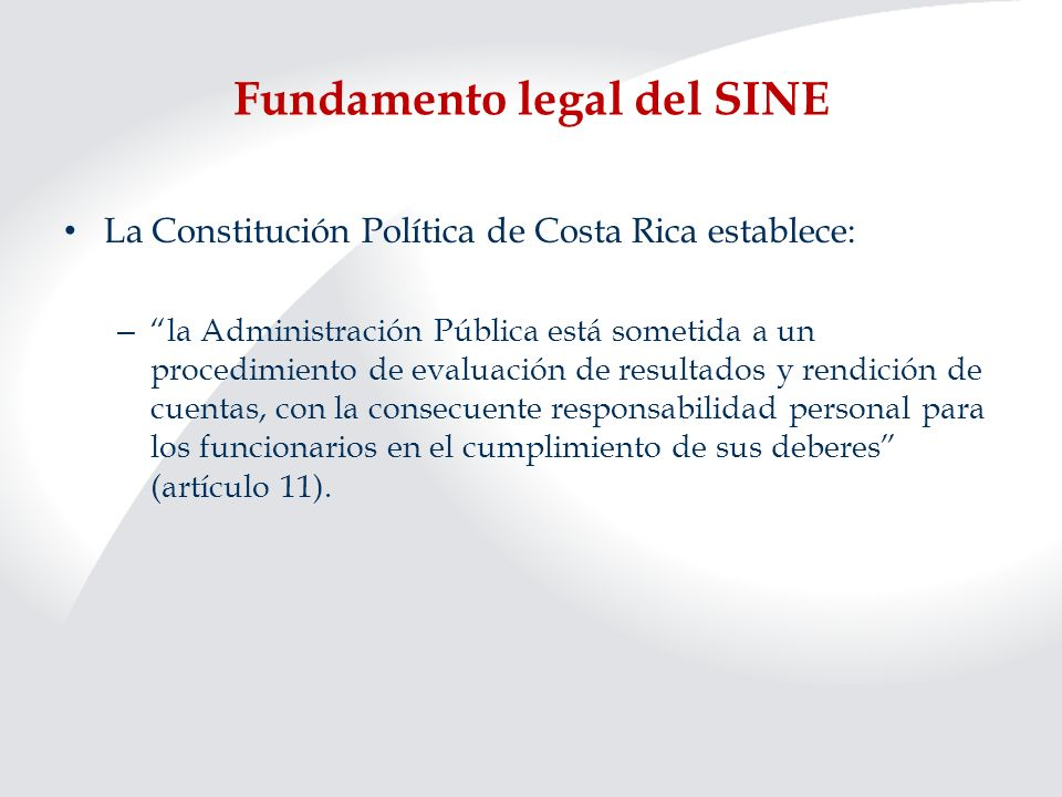 Fundamento legal del SINE