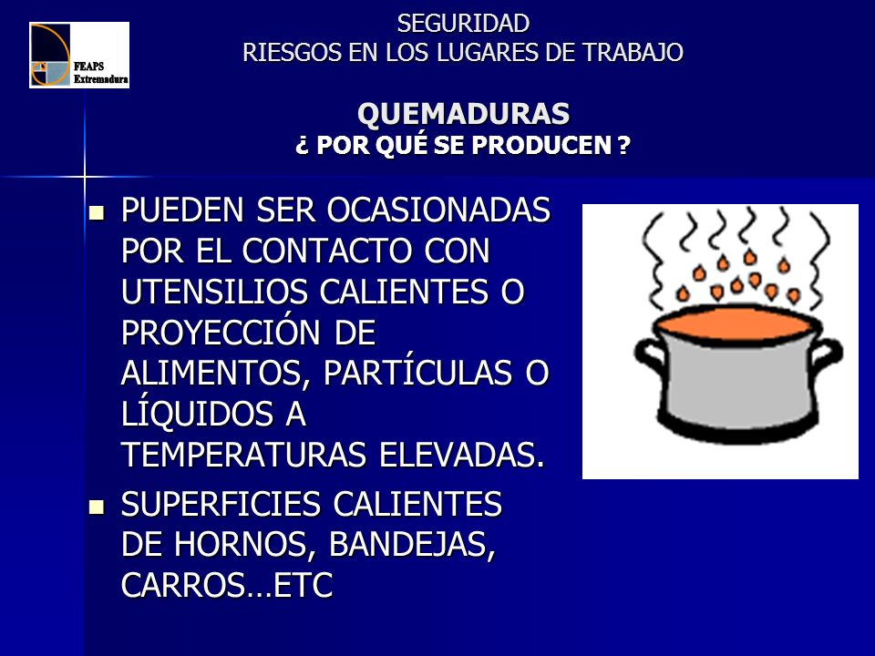 SUPERFICIES CALIENTES DE HORNOS, BANDEJAS, CARROS…ETC