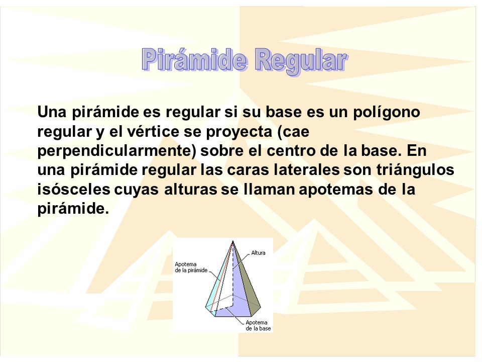 Pirámide Regular
