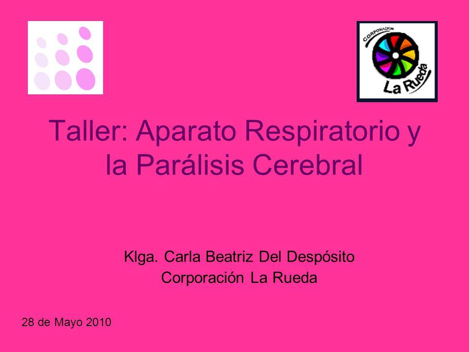 Taller: Aparato Respiratorio y la Parálisis Cerebral - ppt descargar
