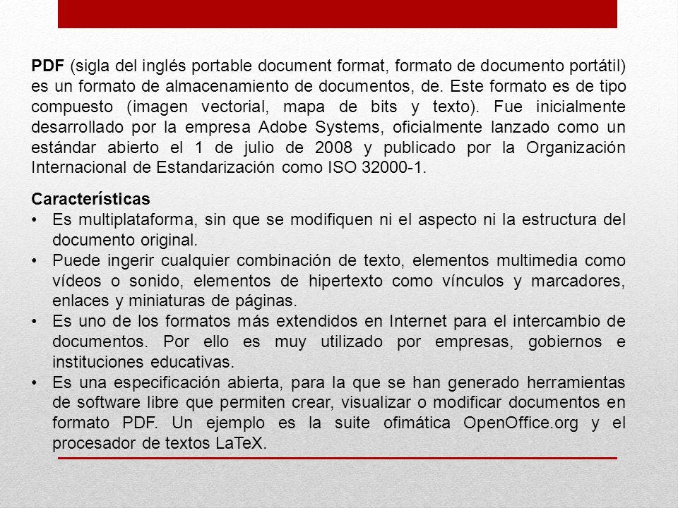portable document format, formato de documento portátil) - ppt descargar