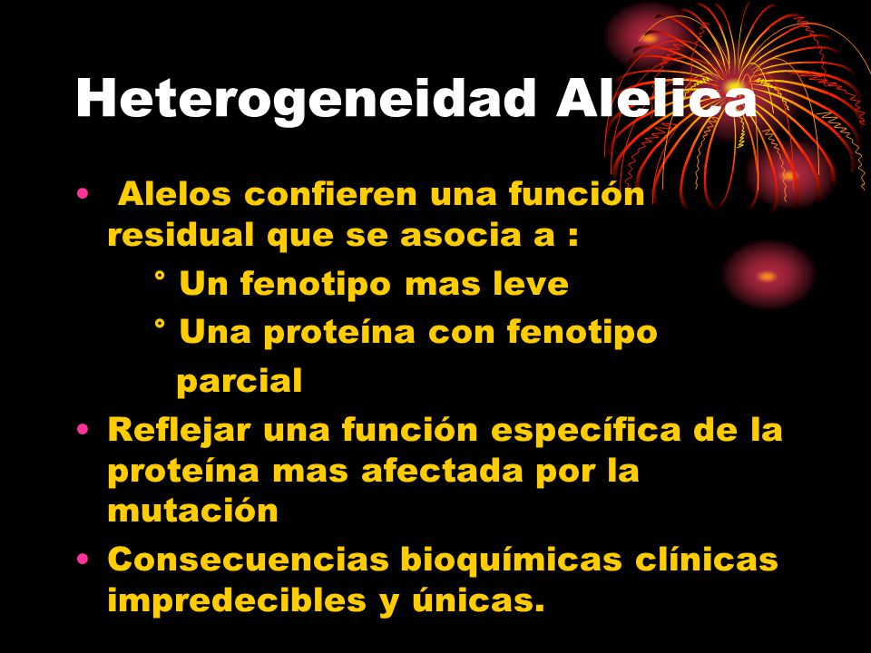 Heterogeneidad Alelica