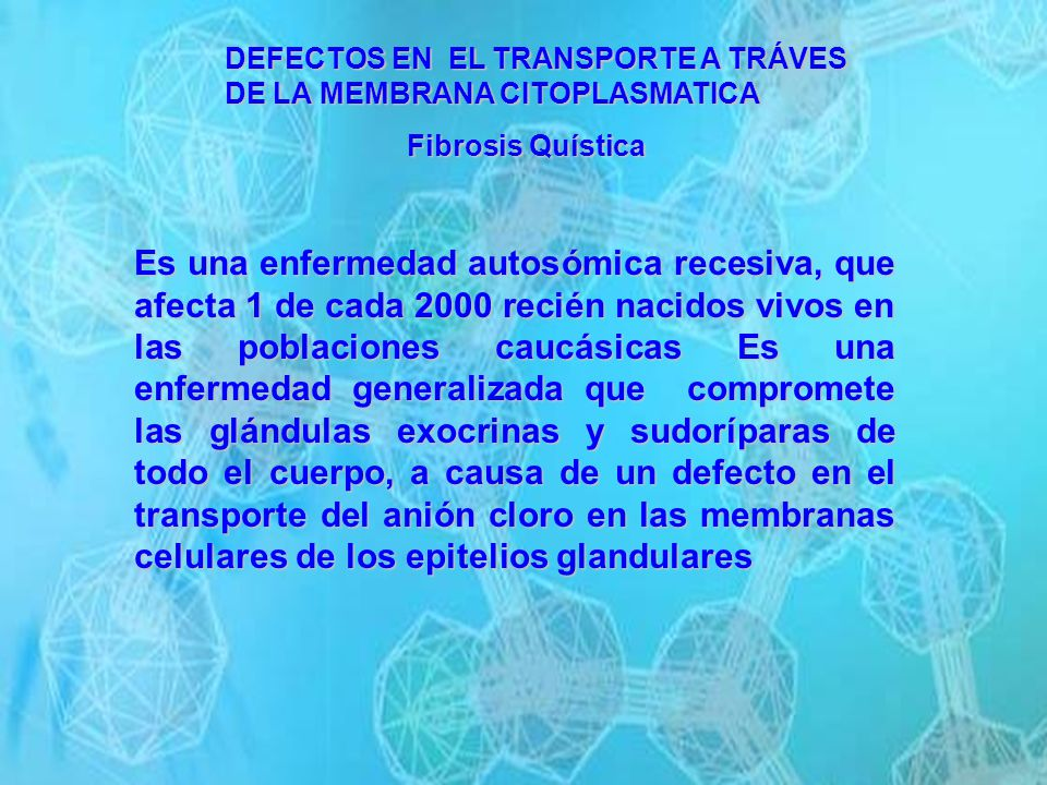 DEFECTOS EN EL TRANSPORTE A TRÁVES