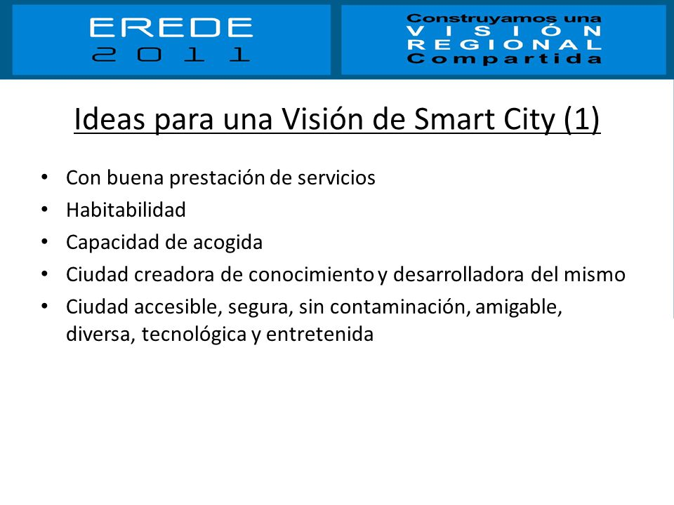 Ideas para una Visión de Smart City (1)