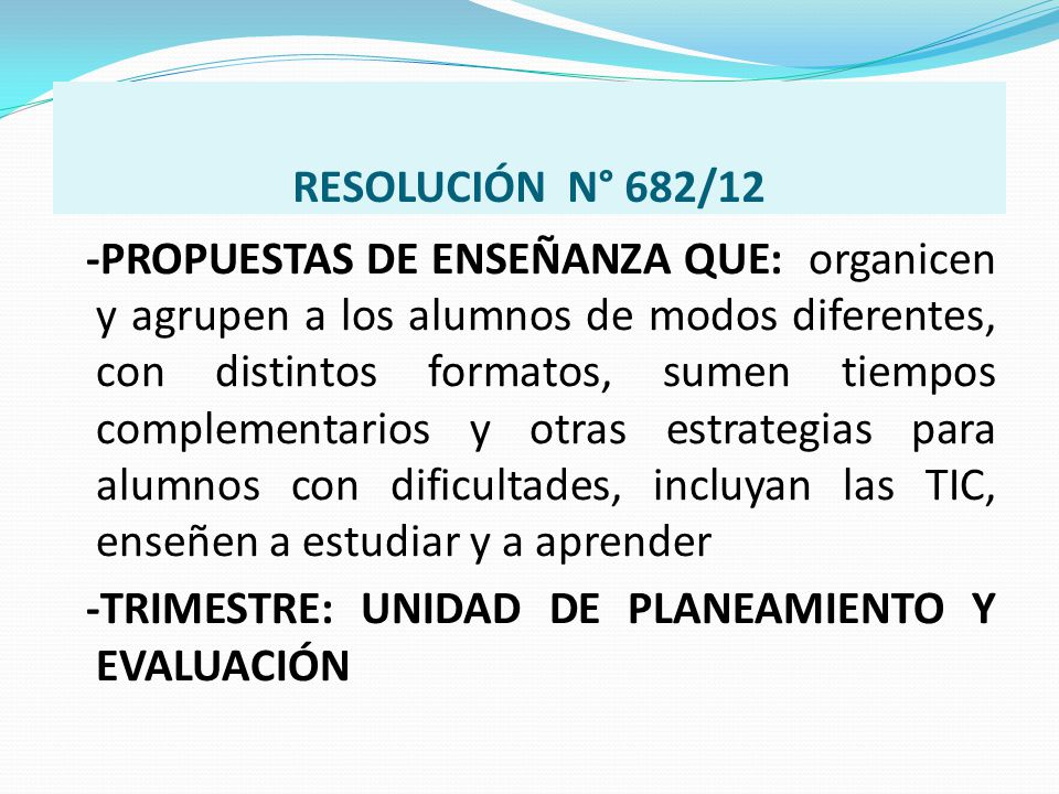 RESOLUCIÓN N° 682/12