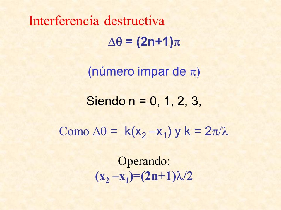 Interferencia destructiva