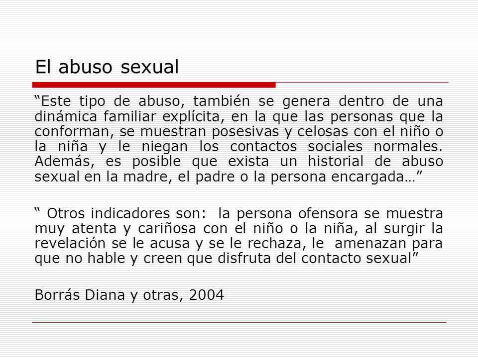 El abuso sexual