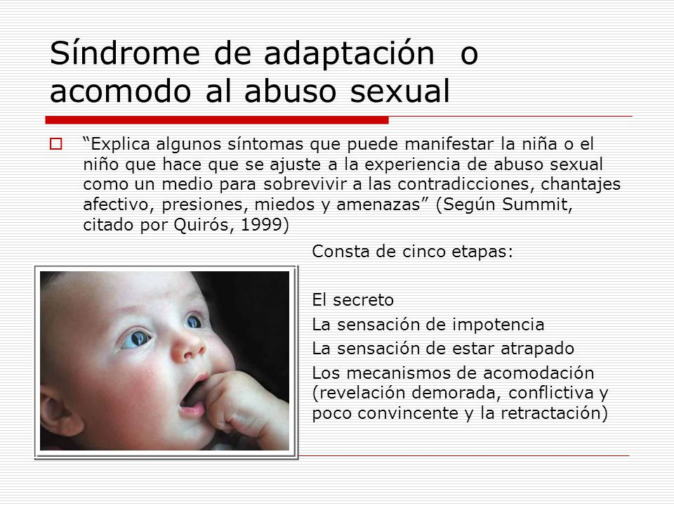 Síndrome de adaptación o acomodo al abuso sexual