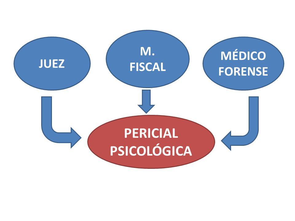 M. FISCAL JUEZ MÉDICO FORENSE PERICIAL PSICOLÓGICA