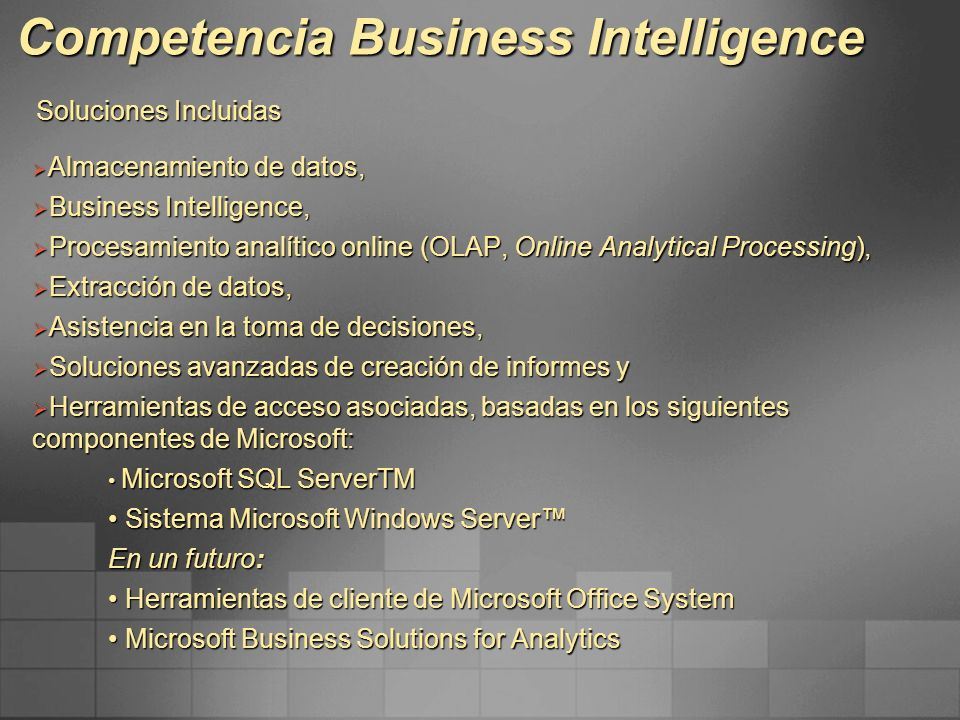 Competencia Business Intelligence