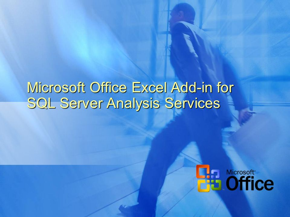 Microsoft Office Excel Add-in for SQL Server Analysis Services