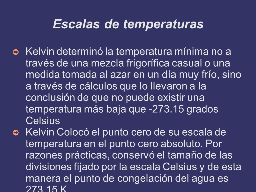 Escalas de temperaturas