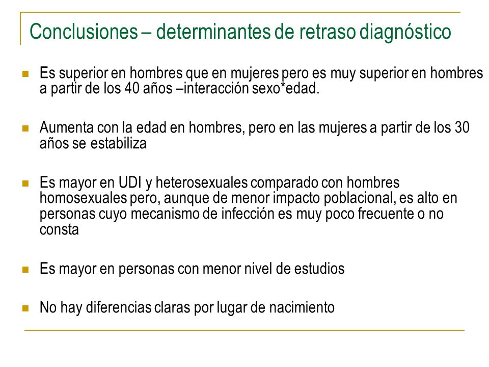 Conclusiones – determinantes de retraso diagnóstico