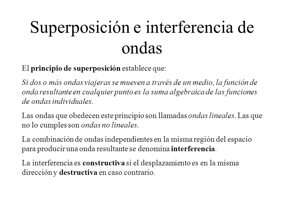 Superposición e interferencia de ondas