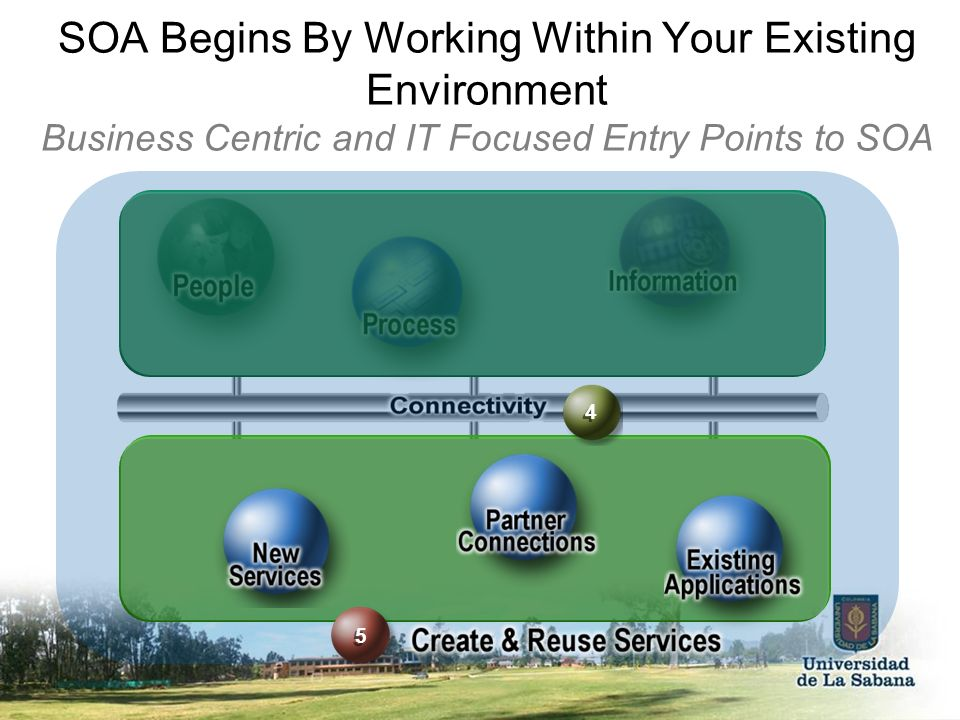 SOA Begins By Working Within Your Existing Environment Business Centric and IT Focused Entry Points to SOA