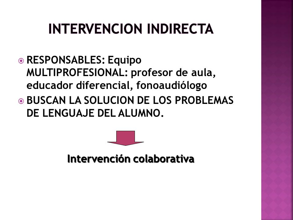 INTERVENCION INDIRECTA