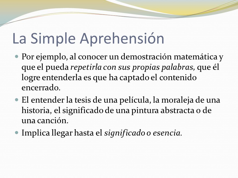 La Simple Aprehensión