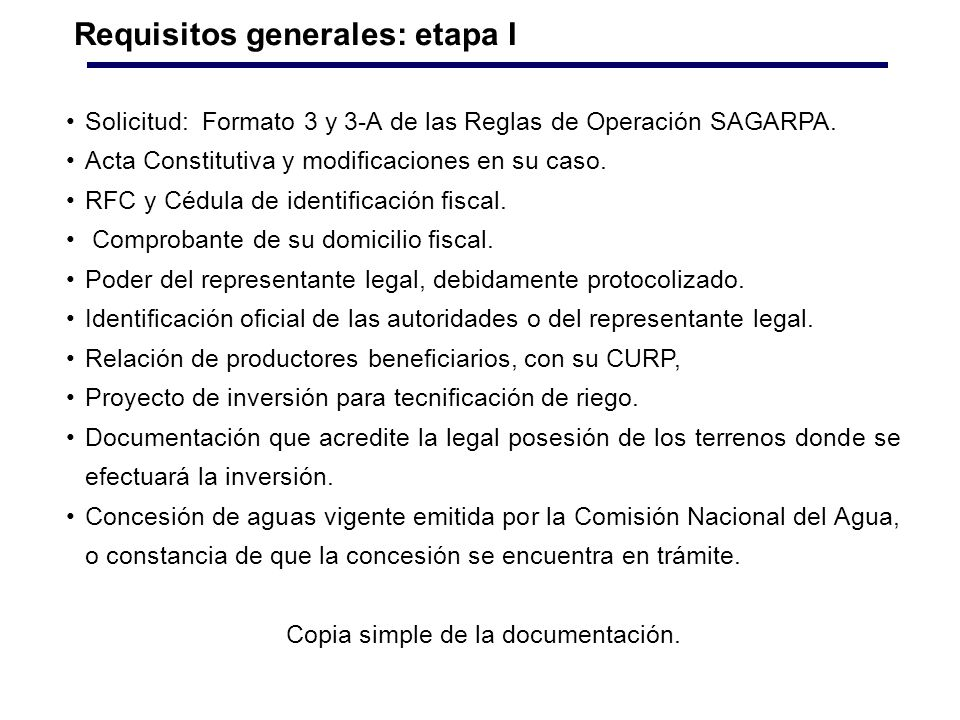 Copia simple de la documentación.