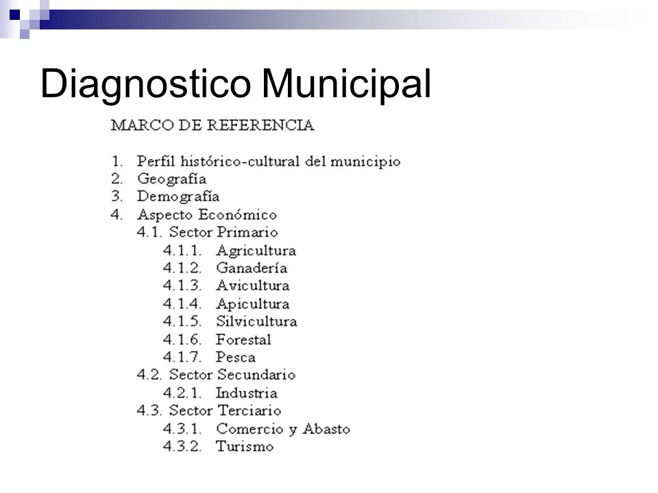 Diagnostico Municipal