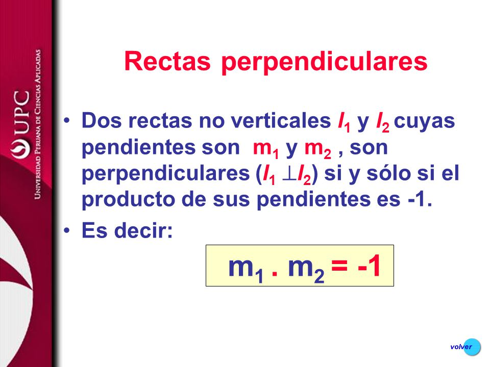 Rectas perpendiculares