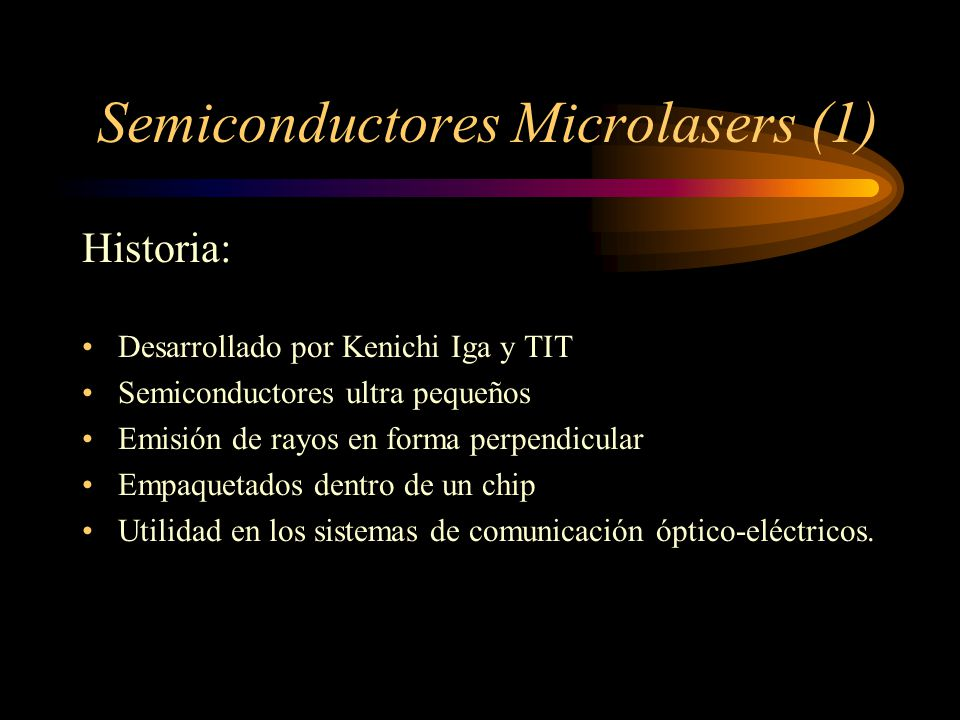 Semiconductores Microlasers (1)