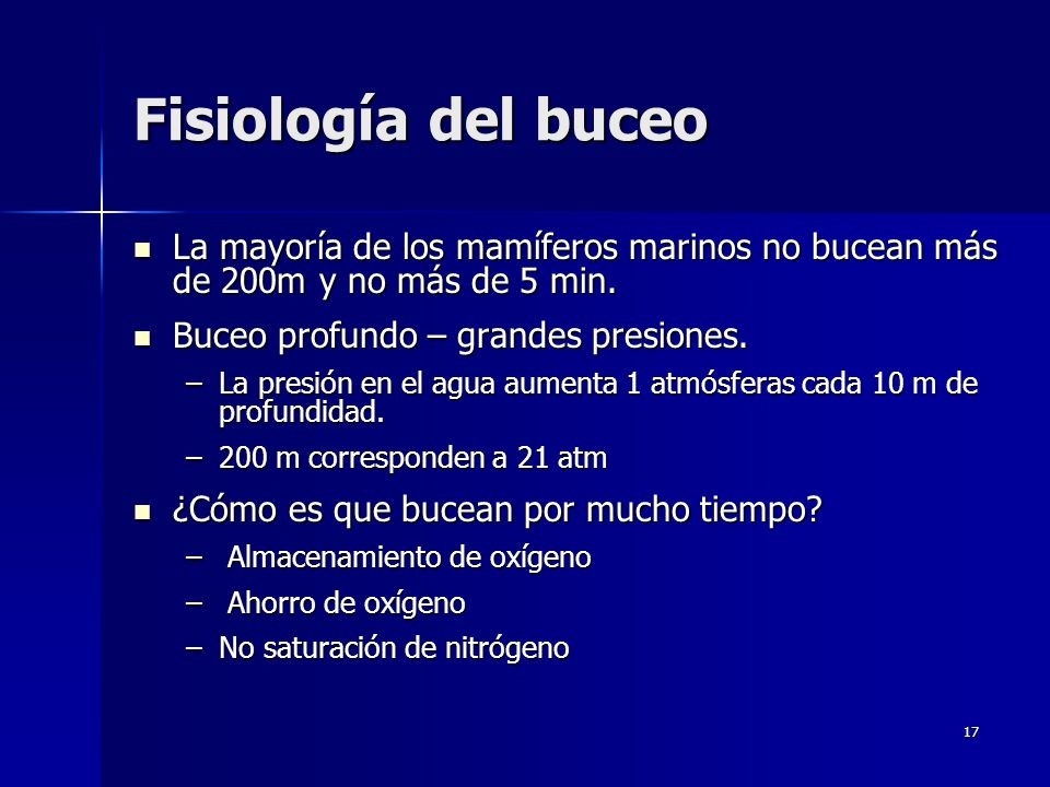 Locomoción, Fisiología del Buceo y Órganos de los Sentidos - ppt ...