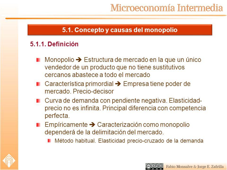 Tema 5 El Monopolio Concepto Y Causas Del Monopolio Ppt