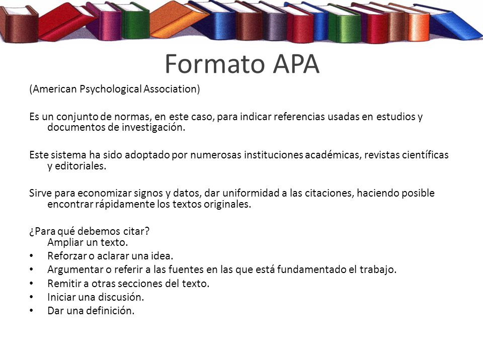 Formato APA (American Psychological Association)