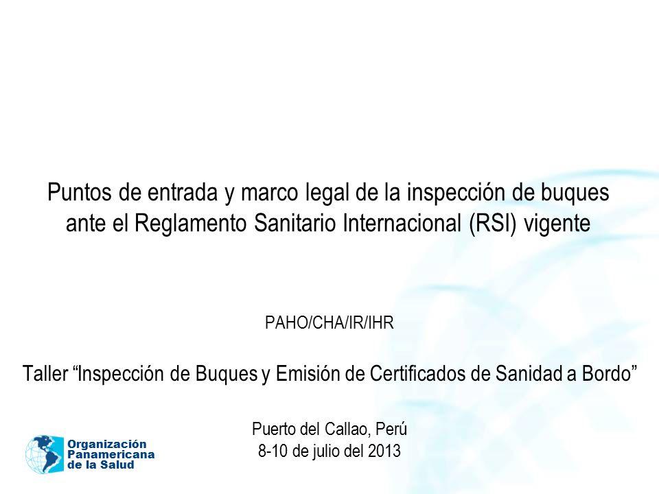 Puntos de entrada y marco legal de la inspección de buques ante el ...