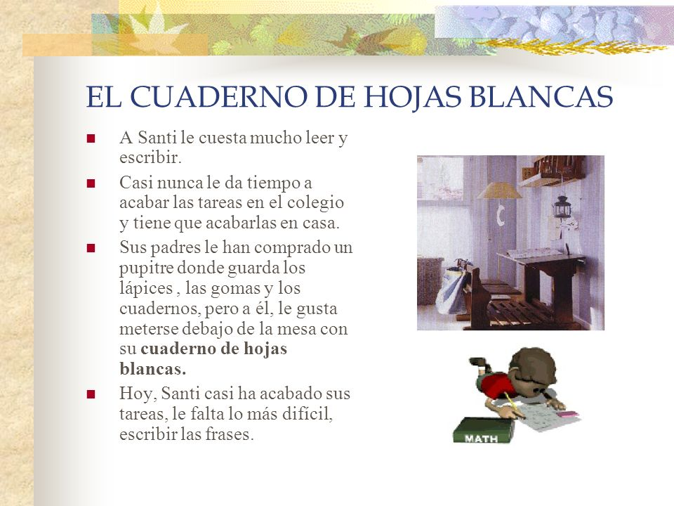 EL CUADERNO DE HOJAS BLANCAS - ppt descargar