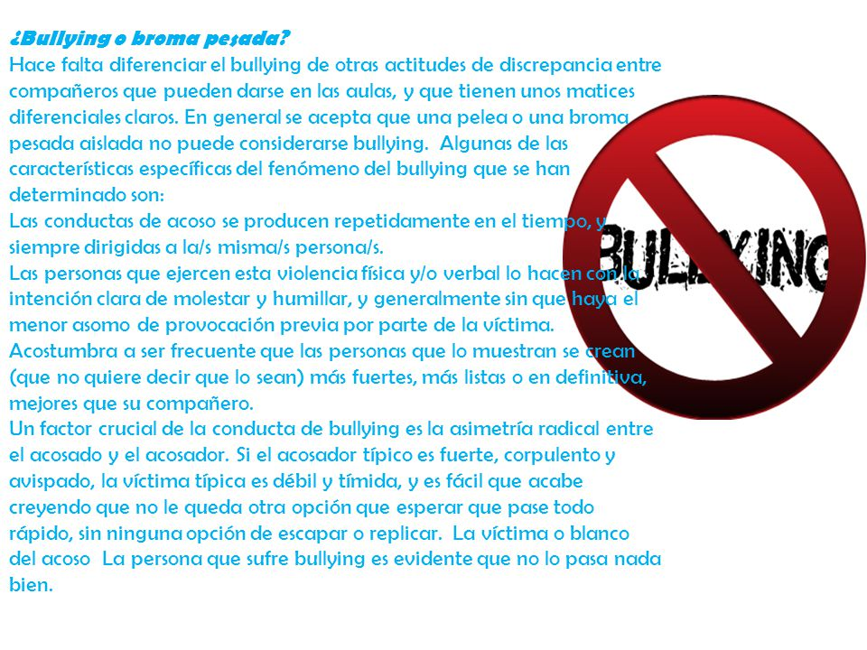 ¿Bullying o broma pesada