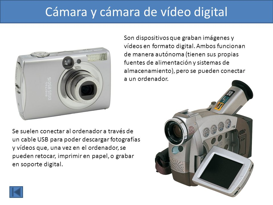Cámara y cámara de vídeo digital