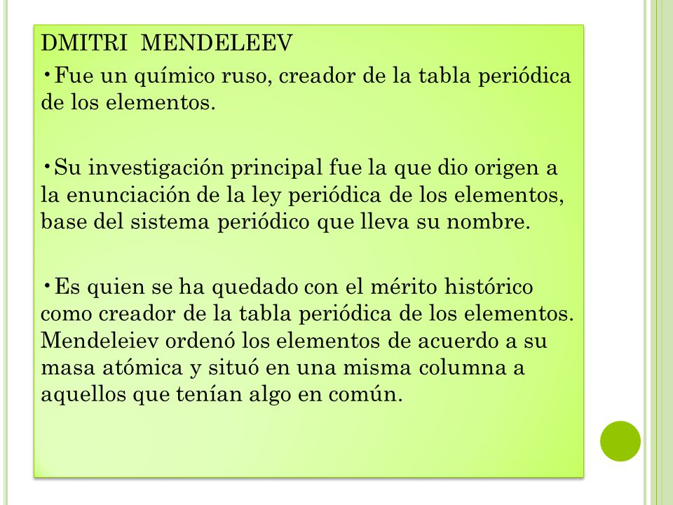 Principales aportes ala elaboracin de la tabla peridica ppt dmitri mendeleev fue un qumico ruso creador de la tabla peridica de los elementos urtaz Images