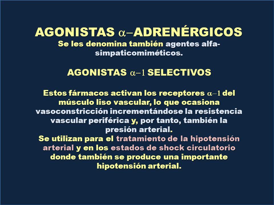 AGONISTAS Y ANTAGONISTAS DE LOS RECEPTORES a ADRENÉRGICOS - ppt ...