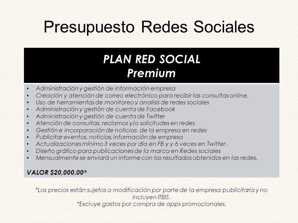 Propuesta de Manejo de Redes Sociales - ppt descargar