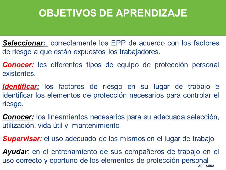 ELEMENTOS DE PROTECCIÓN PERSONAL (EPP) Seguridad, manejo y cuidado ... 7f6a00121f