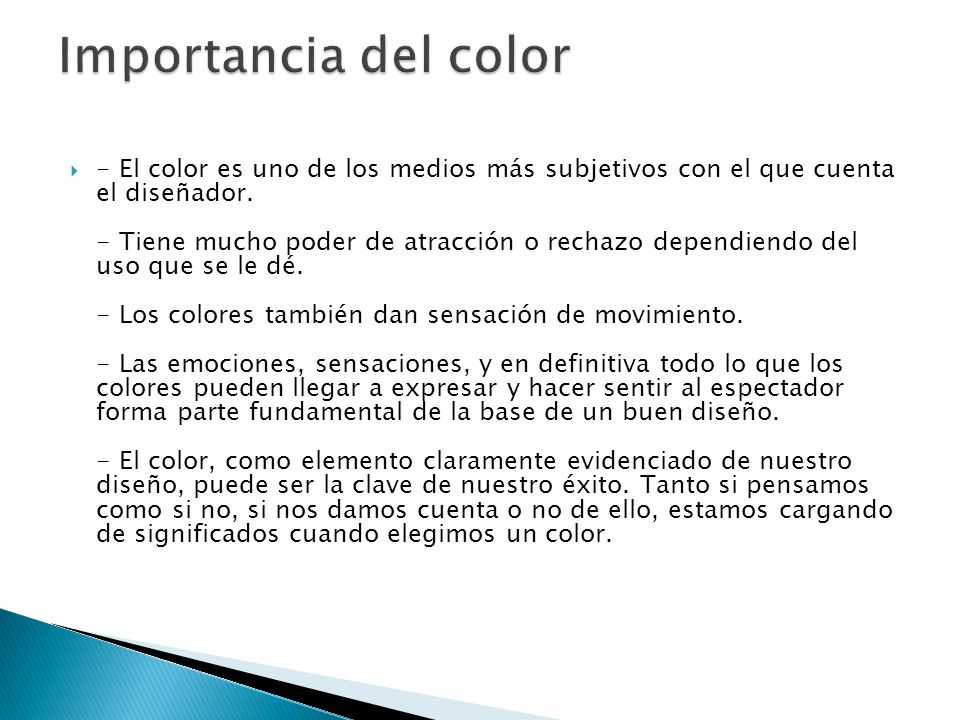 Importancia del color