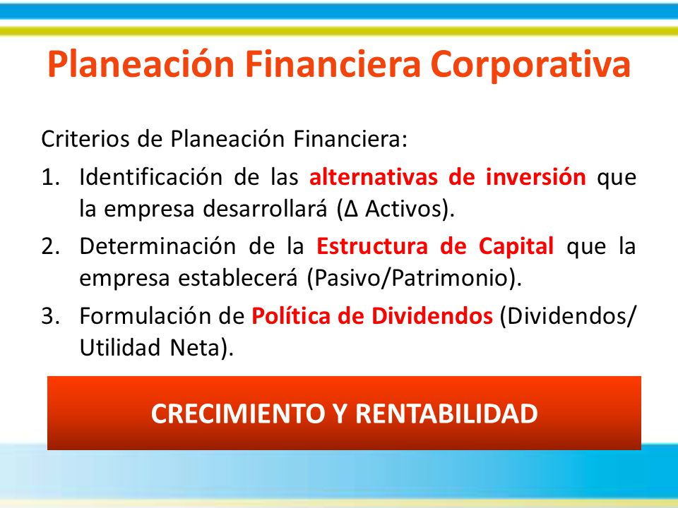 Planeación Financiera Corporativa