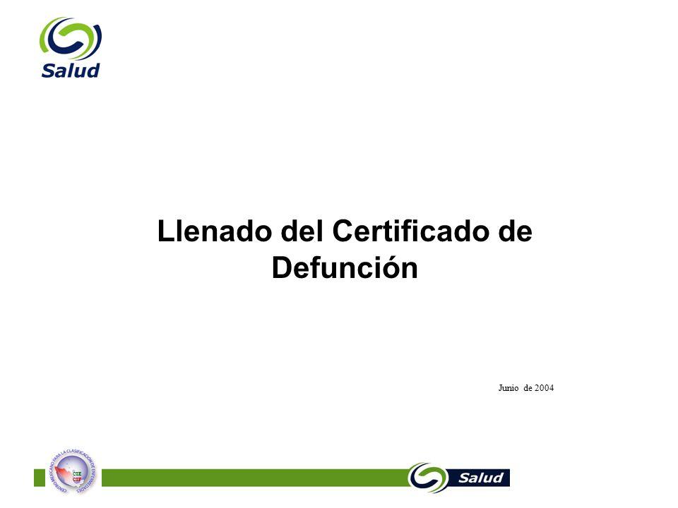 Llenado del Certificado de Defunción - ppt descargar