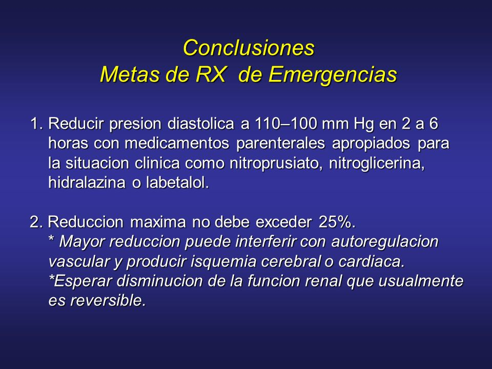 Metas de RX de Emergencias