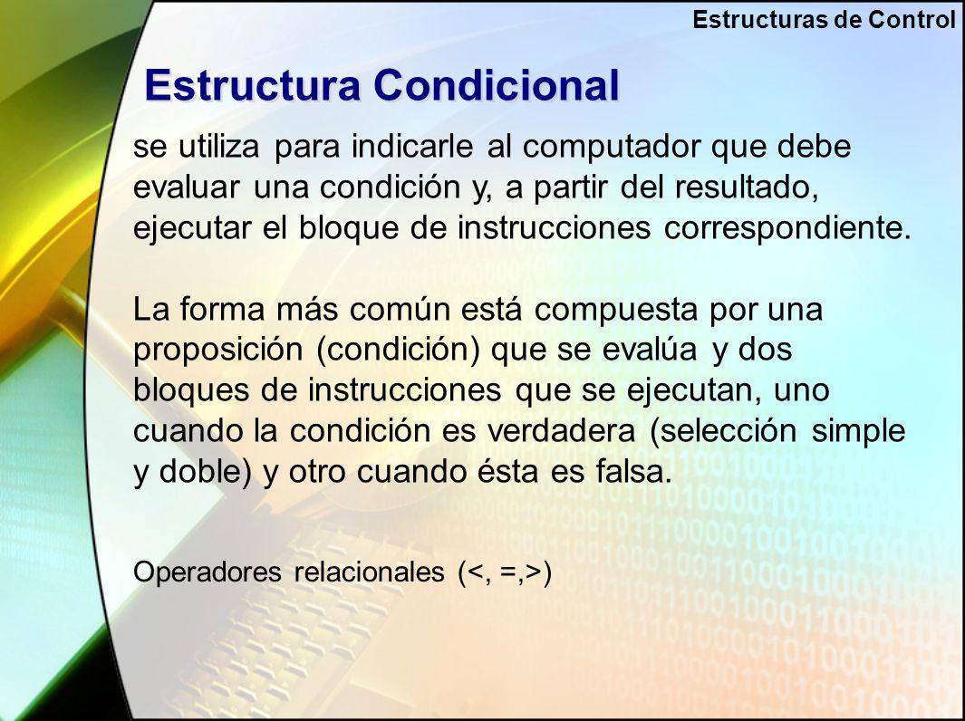 Estructuras De Control Ppt Video Online Descargar