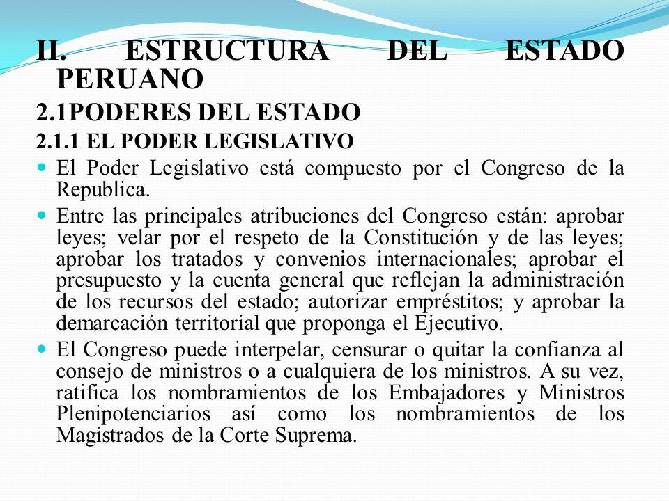 El Estado Peruano Y Su Estructura Area Formación Ciudadana