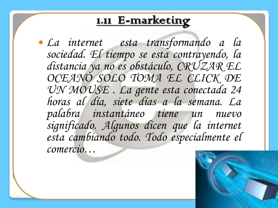 1.11 E-marketing