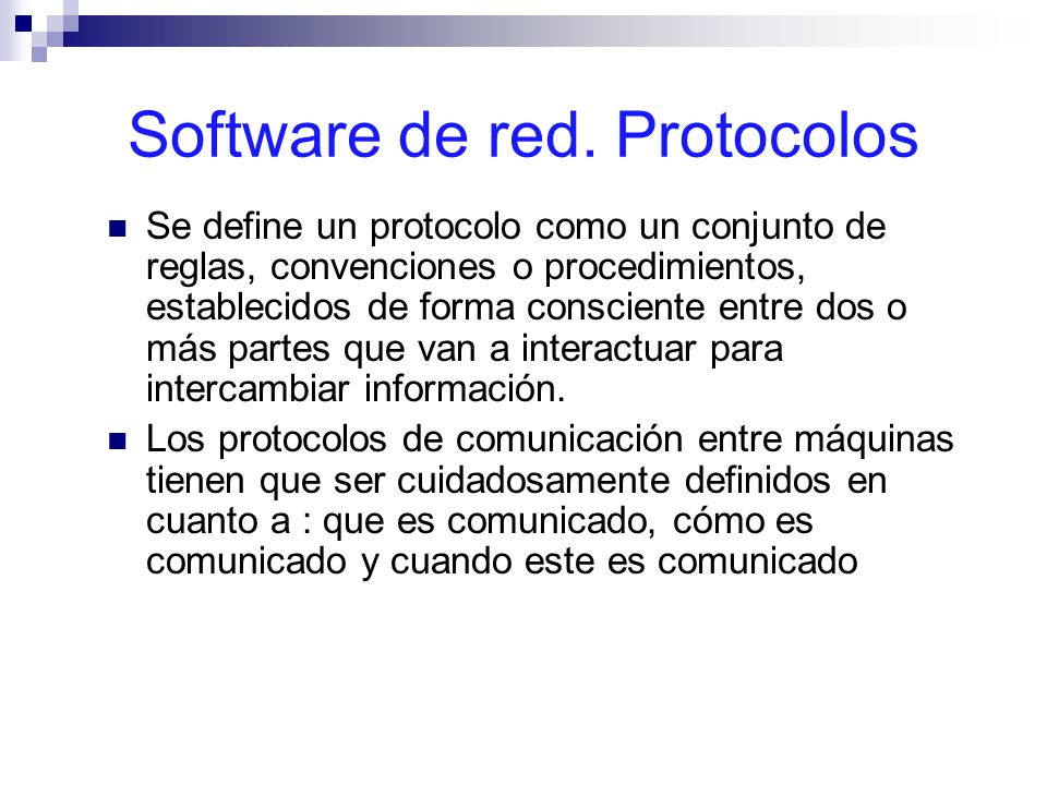 Software de red. Protocolos