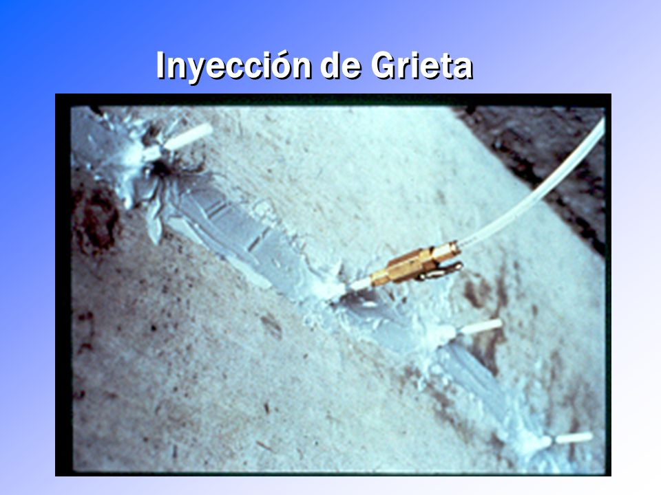 Inyección de Grieta Injecting under pressure through an injection port