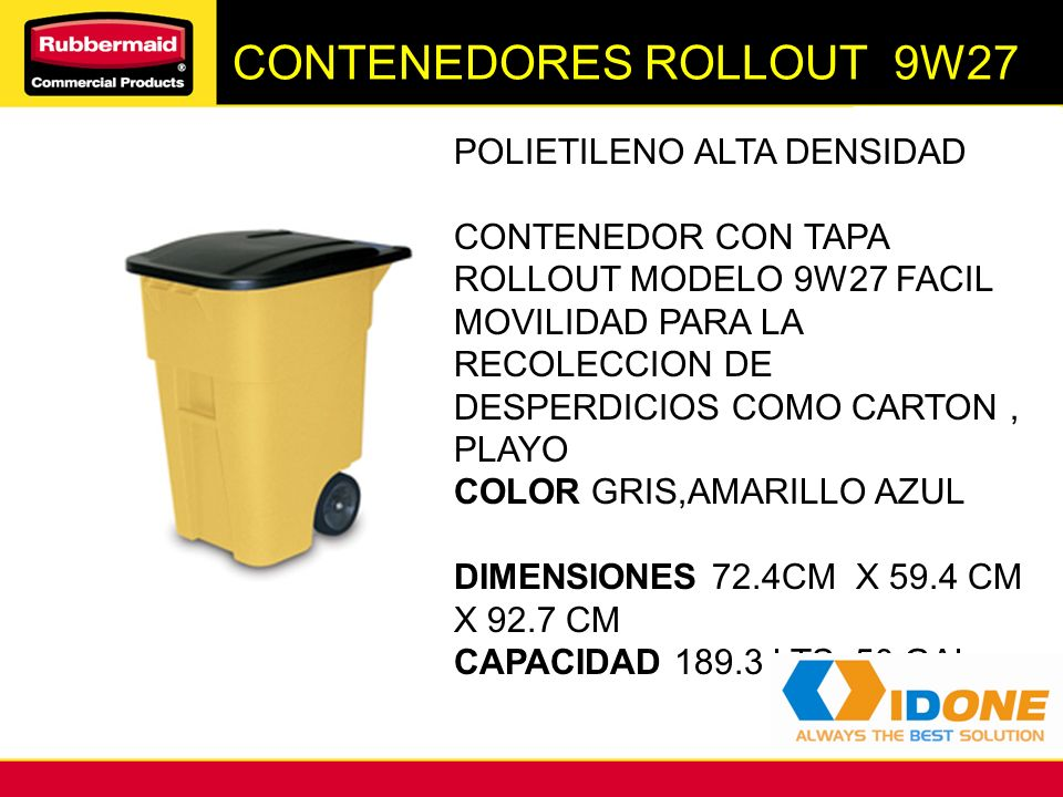CONTENEDORES ROLLOUT 9W27