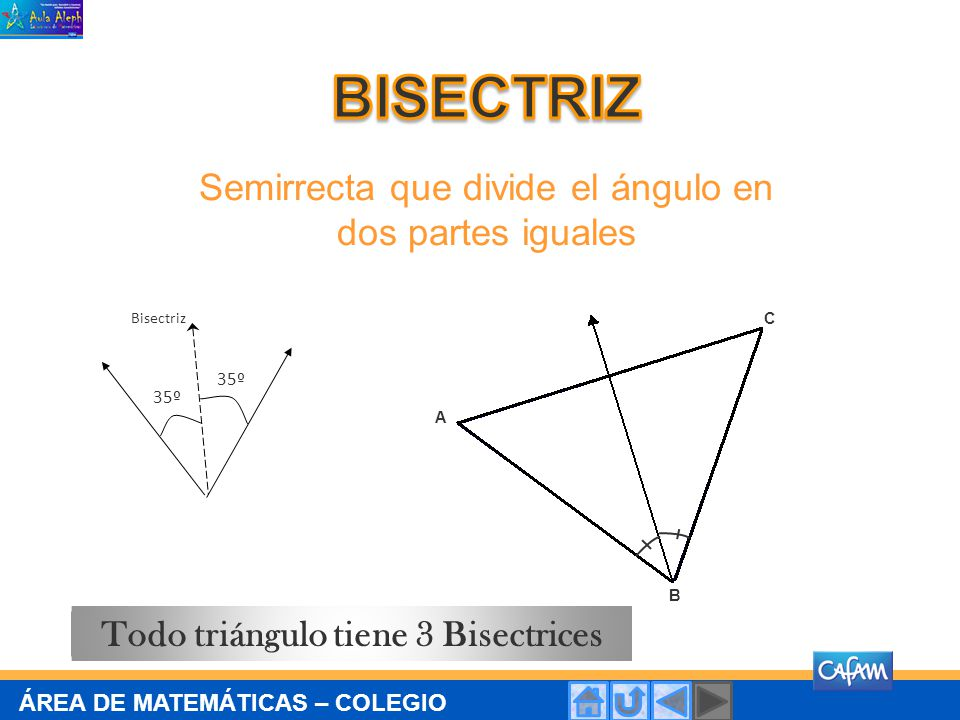 Todo triángulo tiene 3 Bisectrices